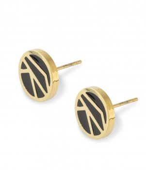 Rose Earring Black/Gold
