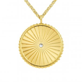 Sunray Long Necklace Gold