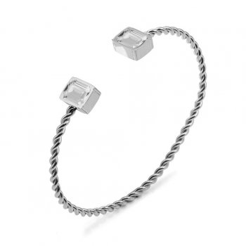 Grace Bangle Clear/Steel
