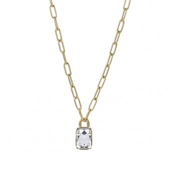 Grace Chain Short Necklace Clear/Gold
