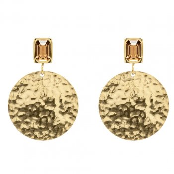 Grace Coin Earring Brown/Gold