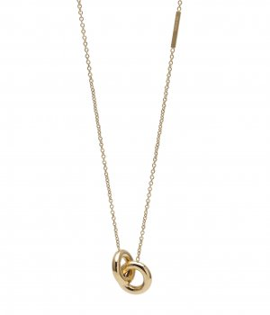 Lola Double Short Necklace Gold
