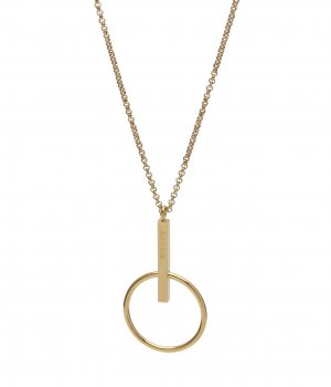 Zone Short Necklace Gold