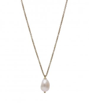 Baroque Pearl Short Necklace Gold