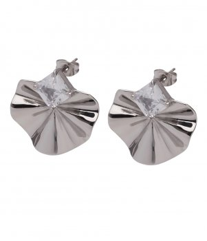 Sephora Crystal Earring Clear/Steel