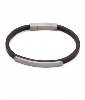 Alison Brown Leather Bracelet 19cm