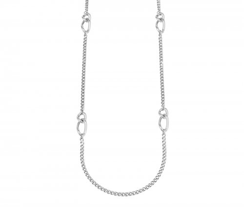 Link Chain Long Necklace Steel