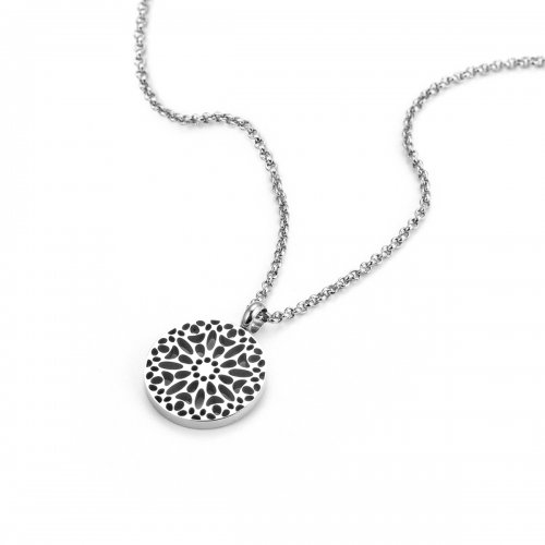 Sence Short Necklace Steel