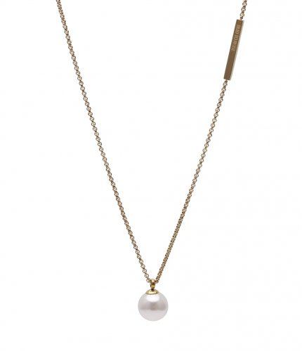 Pearl Long Necklace Gold