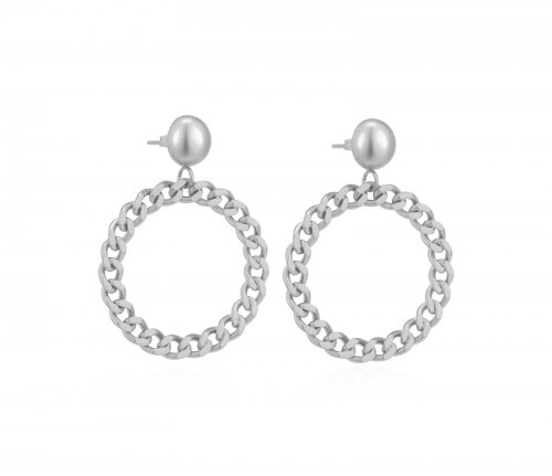 Devious Chain Earring Steel