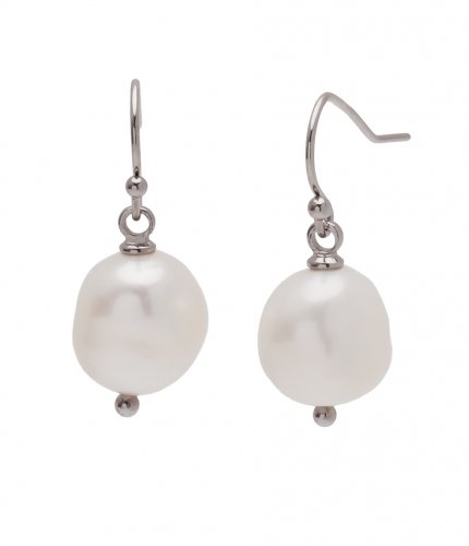 Pearl Hook Earring Steel