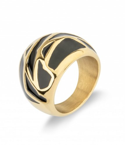 Rose Ring Black/Gold