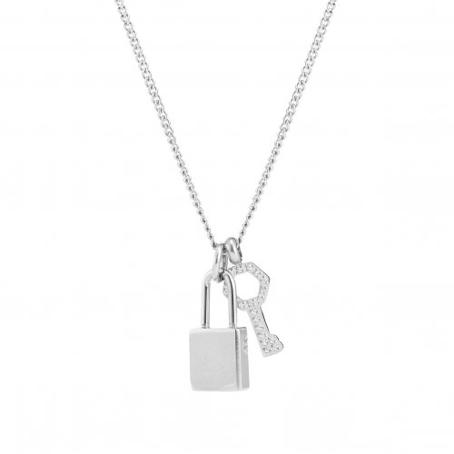 Love Lock Mini Necklace Steel