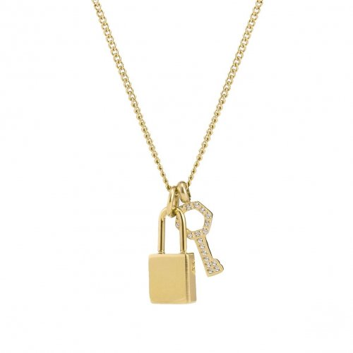 Love Lock Mini Necklace Gold