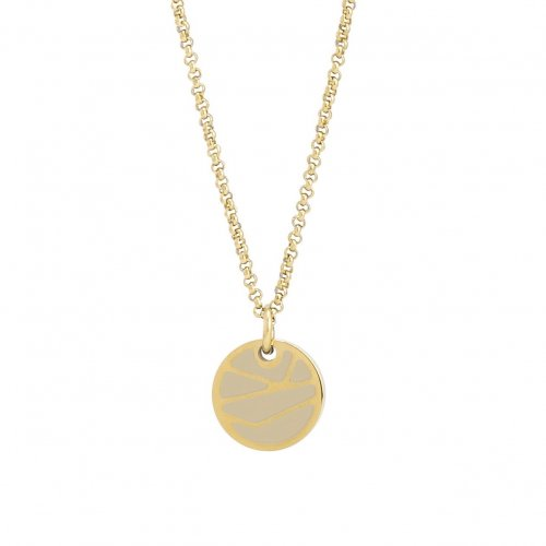 Rose Enamel Short Necklace Sand/Gold