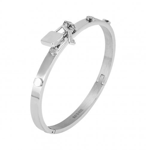 Love Lock Bangle Steel