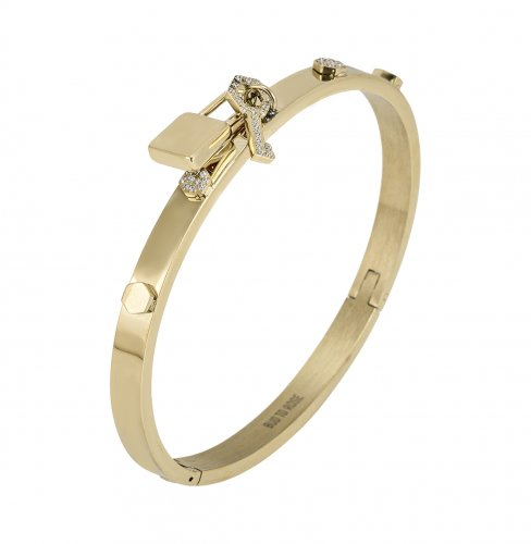 Love Lock Bangle Gold