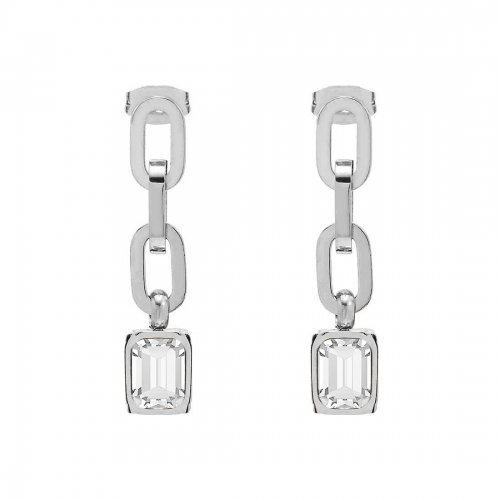 Grace Chain Earring Clear/Steel