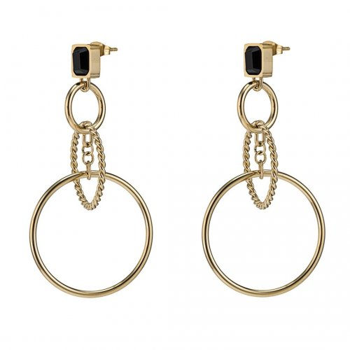 Grace Rings Earring Black/Gold
