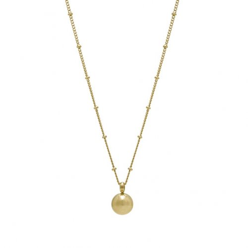 Globe Long Necklace Gold