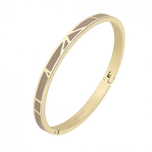 Rose Enamel Bangle Sand/Gold