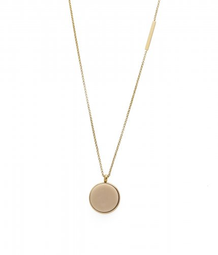 Rock Necklace Ivory/Gold