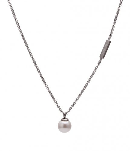 Pearl Short Necklace Steel