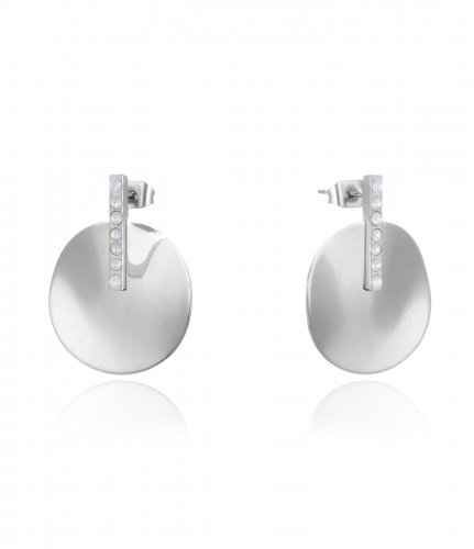 Kelly Earring White/Steel