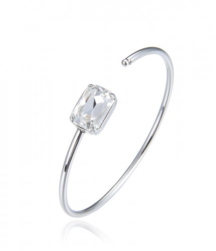 Celia Bangle Clear/Steel