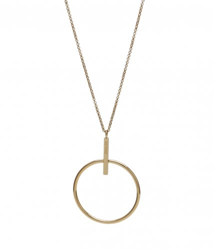 Zone Long Necklace Gold